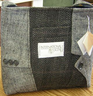 Creative Colony's Linda Blackwell goes Green with her Recycled Suit Purses