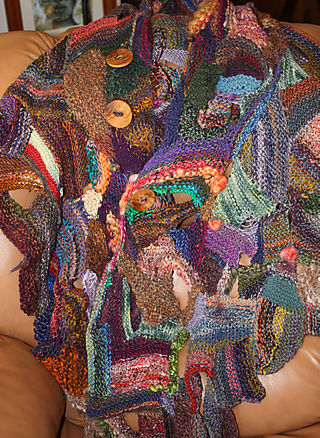 Rowena Tank's Abstract Knitting Creation