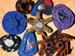 Felted Treasure brooch - Michelle Johnson