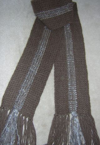 Buffalo Scarf with Silvered Inlay