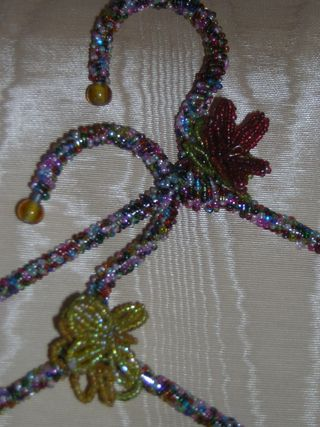 Seed Bead Hanger - Close Up
