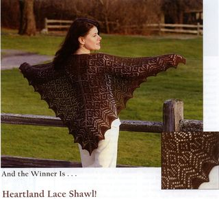 Evelyn Clark's Heartland Shawl sold at Loom N Essence