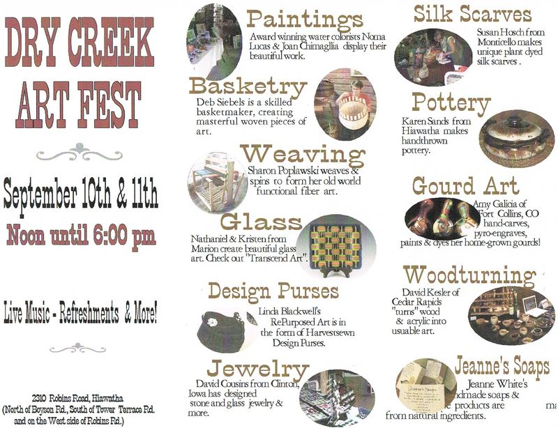 Dry Creek Art Fest - Artisans Brochure