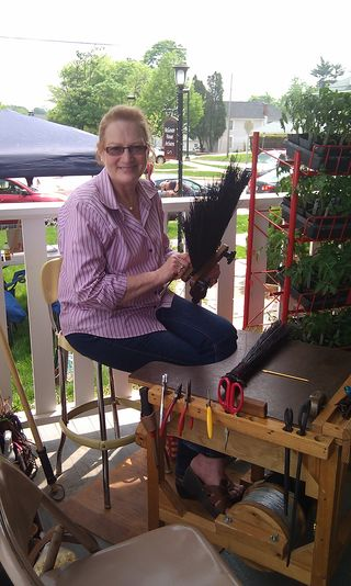 MHA- Art in the Yard - Jeanne Dudley Demo - Broom Making