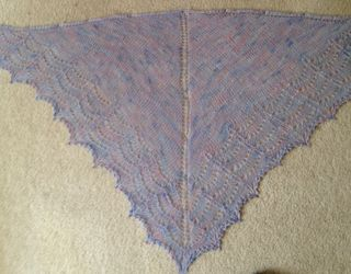 LNE = Hand Knit Shawl from LNE's Yarn