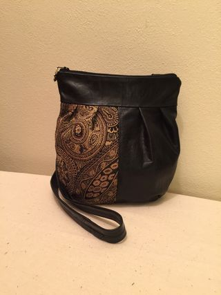 Leather and Fabric Purse by Harvest Sewn