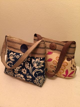 Jute Summer Purses by Harvest Sewn