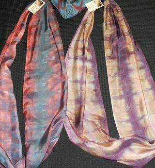 Shibori - Hand Dye Infinity Silks